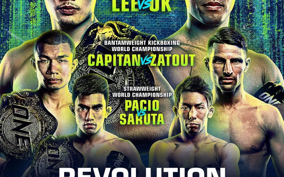 ONE: REVOLUTION Full Live Card AnnouncedFeaturing 3 World Title Fights On 24 September
